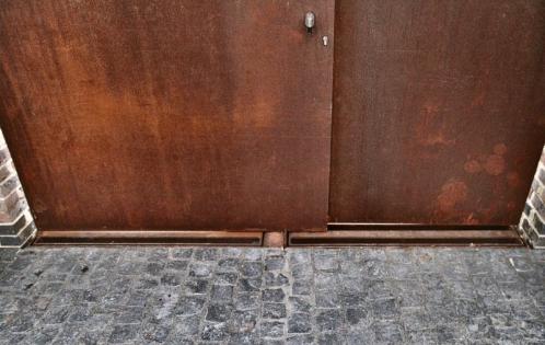 Corten Door U2022 By Tony Hunt